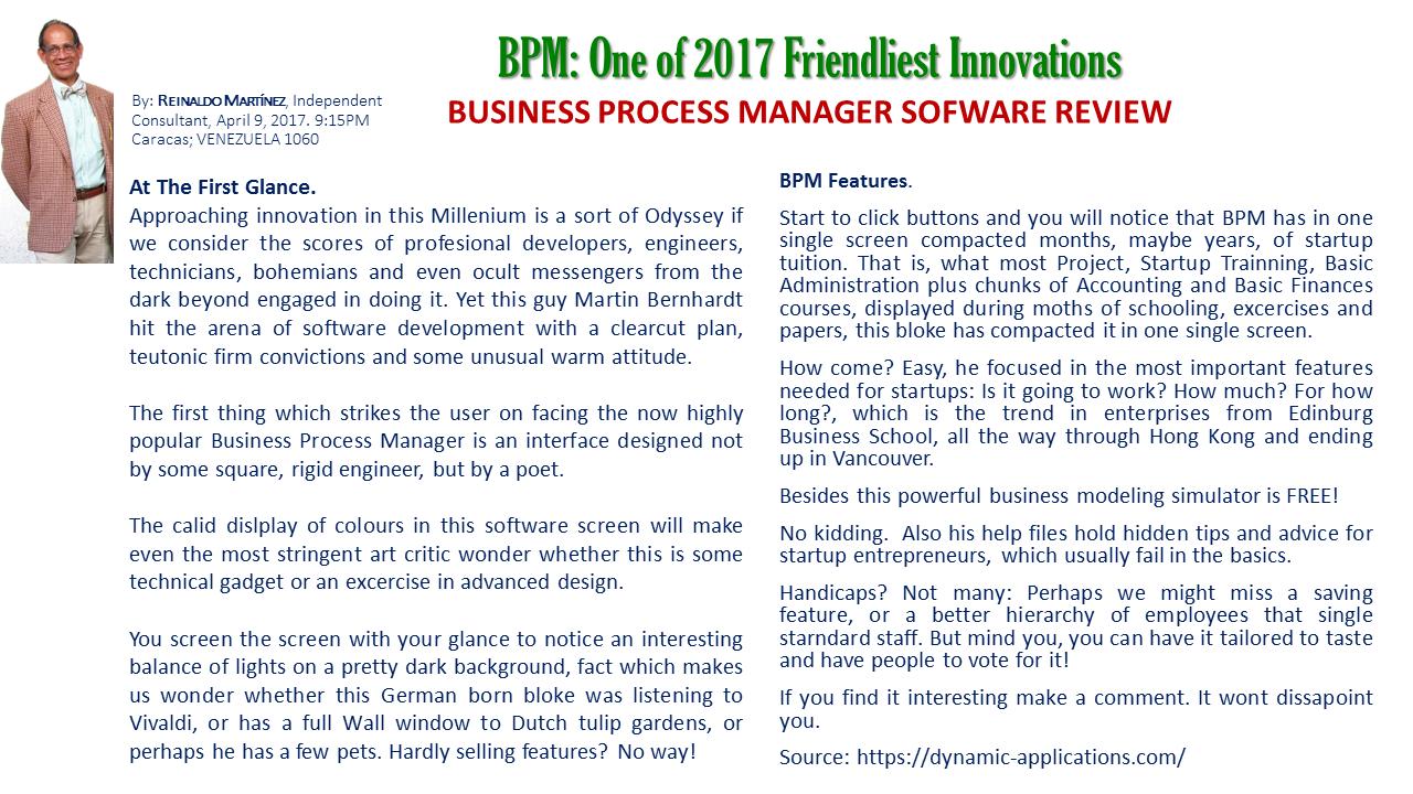 BPM Review - Reinaldo Martinez