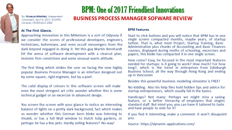 BPM Review - Reinaldo Martinez