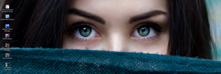 dna banner - beautiful woman eyes looking