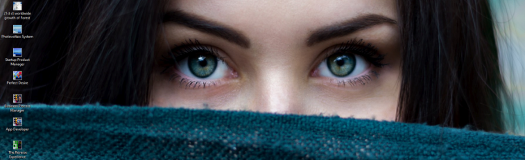 dna header - beautiful woman looking eyes