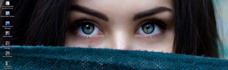 dna header - beautiful woman looking eyes