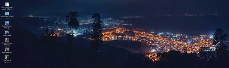 dna header - lighted sea haven in fog at night