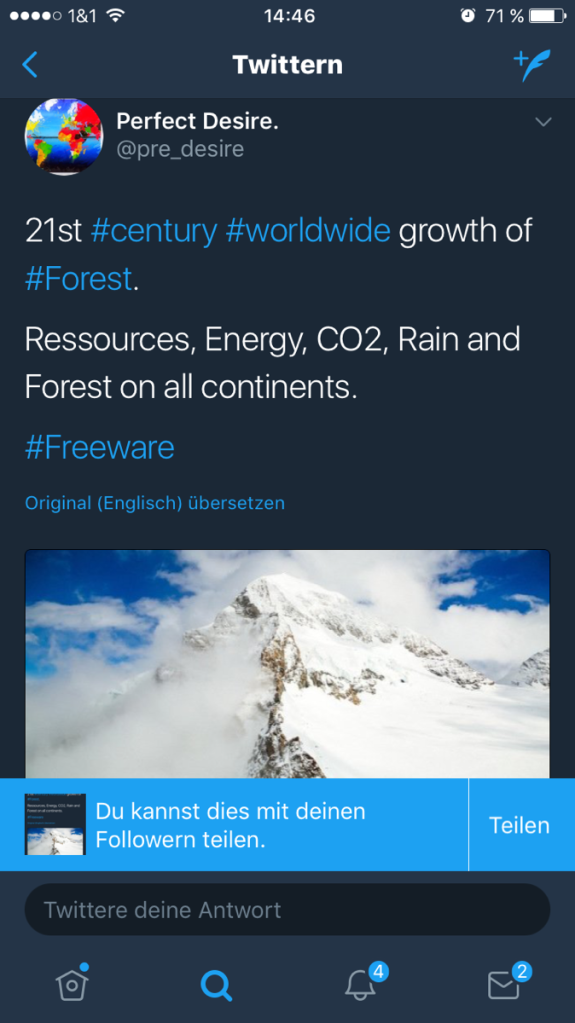 21st century worldwide growth of forest