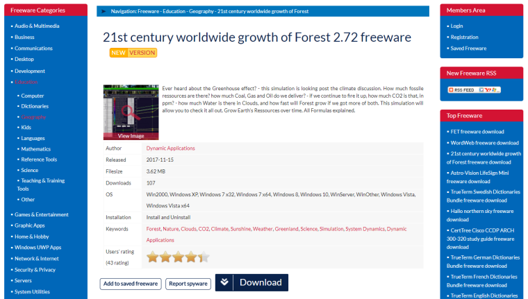 www.bestfreewaredownload.com - 21st century ww growth of Forest