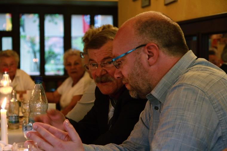 Klaus und Martin Bernhardt (geb. Grote), Champion's Pub, Bad Blankenburg, Thuringia.