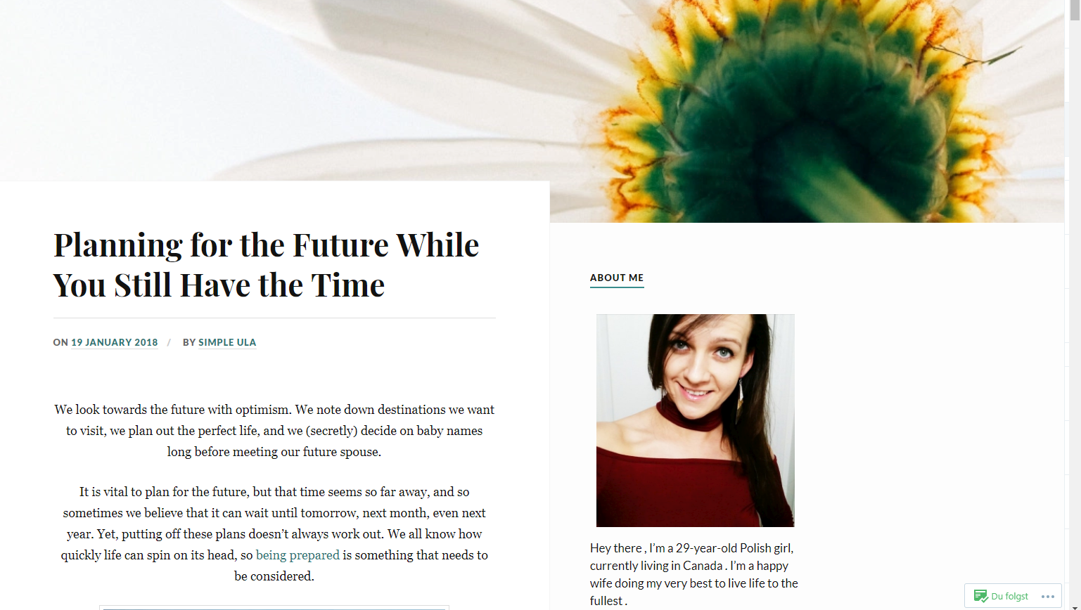 Planning for the Future while you still have the Time