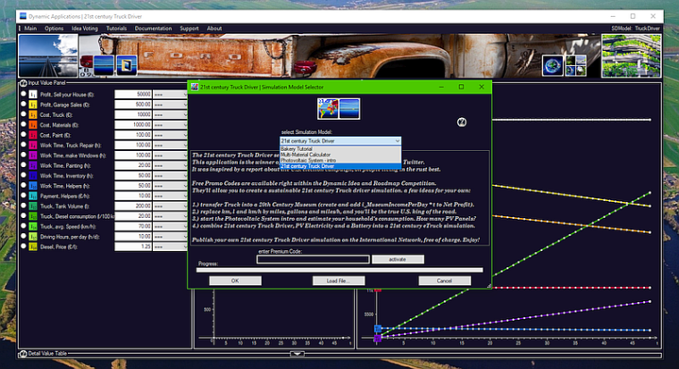 21st century Truck Driver - Simulation Model Selector