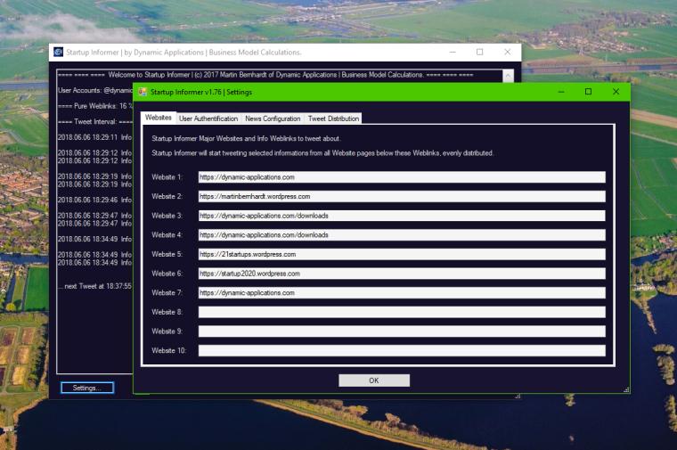 Startup Informer v176 - 01 Website configuration
