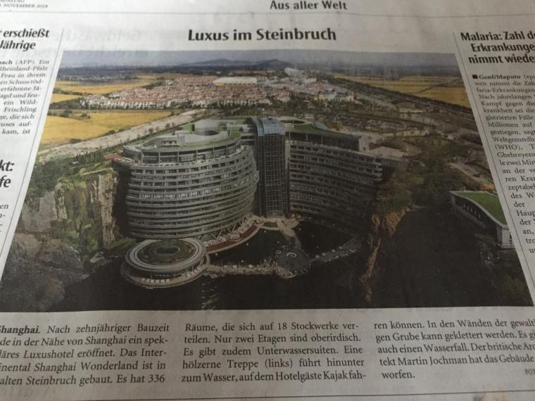 Luxus im Steinbruch. Neue Westfälische, 2018.11.17