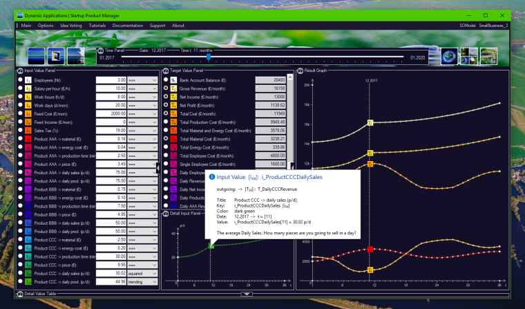 SPM - PV System v3.76, with daily production cycles.