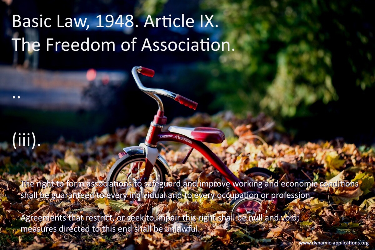 about the freedom of association