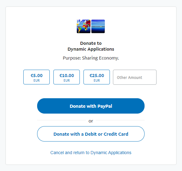 Donate to Dynamic Applications - Sharing Economy Founding