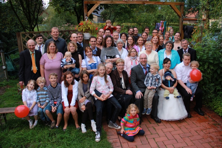 Lukas, Yvonne and Martin Bernhardt, geb. Grote, Helpup Church Wedding, 27.08.2011.
