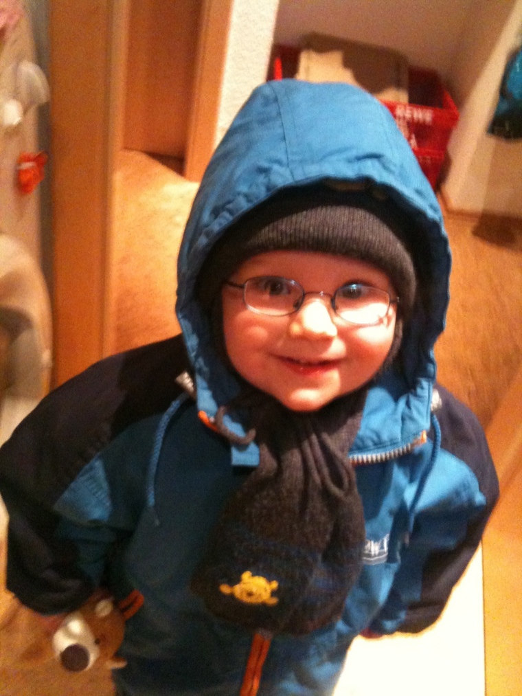Lukas Bernhardt, at the age of 3 years, Home, in 2014.