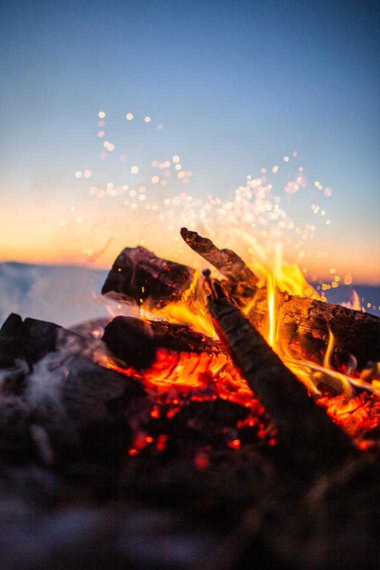 beautiful Campfire - beautiful balance in Nature