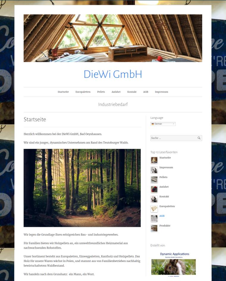 DieWi GmbH - Industriebedarf - Startseite