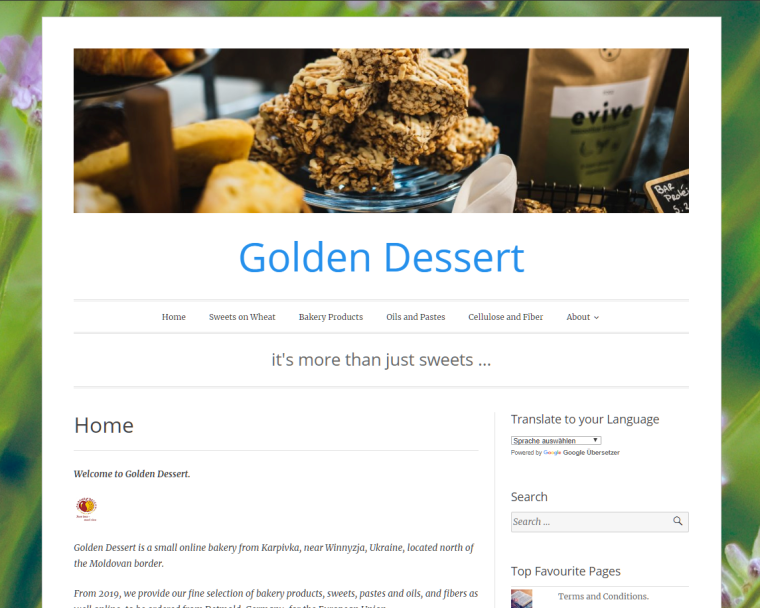 Golden Dessert - Website - it's more than just sweets