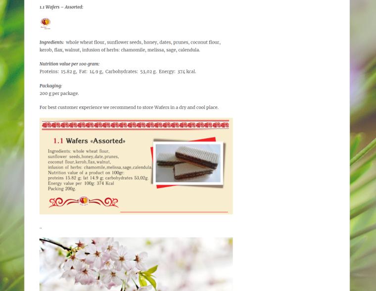 Golden Dessert - Website - Sweets on Wheet - Wafers