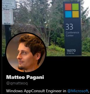 Matteo Pagani from Microsoft Italy