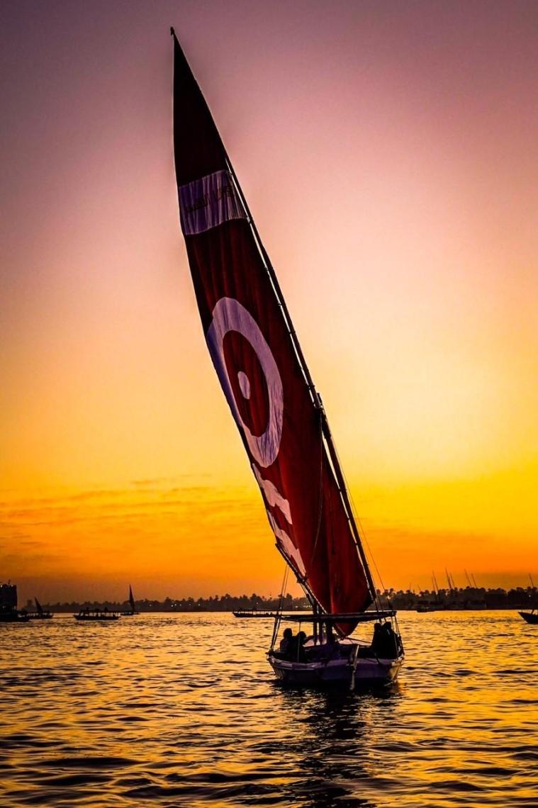 Wind Turbine - Segelboot-auf-dem-Nil - by Nikolas Mimkes