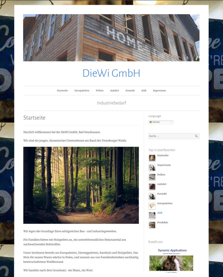 DieWi GmbH - Industriebedarf - Startseite - Home