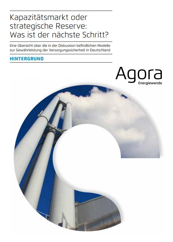 Agora Energiewende - die strategische Reserve der Bundesnetzagentur. Ein Konzeptpapier.