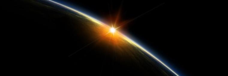 sun on sunken earth horizon