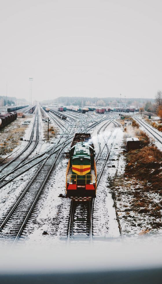 Train Engine - on arrival